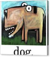 Dog Poster Canvas Print