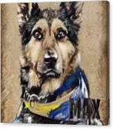Dog Traditional Drawing Canvas Print