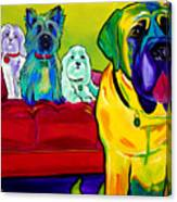 Dogs - Droolers Get The Floor Canvas Print