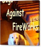 Dogs Against Fireworks Canvas Print
