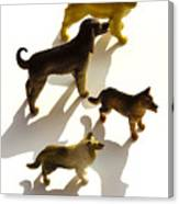 Dogs Figurines Canvas Print