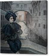 Doll In Venice Canvas Print