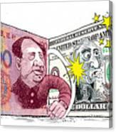 Dollar Vs Yen Canvas Print