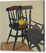 Doll's Chair With Lemon Canvas Print