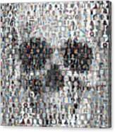 Dolls Skull Mosaic Canvas Print