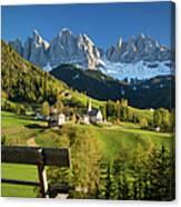 Dolomites View Canvas Print