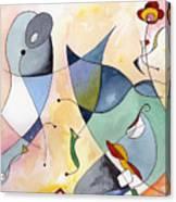 Dolphin Garden Canvas Print