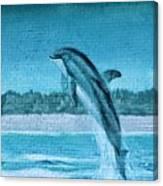 Dolphin Mural Canvas Print