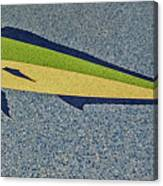 Dolphinfish Inlay On Alabama Welcome Center Floor Canvas Print