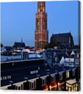 Dom Tower In Utrecht At Dusk 24 Canvas Print