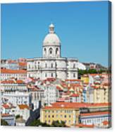 Dome Of Gothic Church In Lisbon Canvas Print