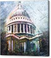 Dome Of Saint Pauls Canvas Print