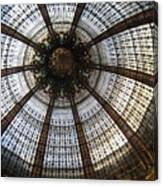 Dome Of The Galleries Lafayette Canvas Print
