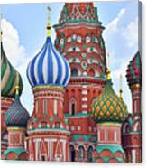 Domes Of St. Basil Canvas Print