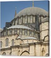 Domes Of Suleymaniye Mosque Canvas Print
