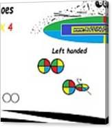 Dominoes' Colours 4 X 4 Canvas Print