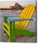 Don Cesar And Beach Chair Canvas Print