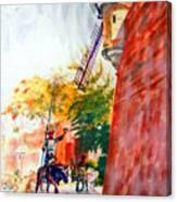 Don Quixote In San Juan Canvas Print