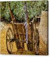 Donkey Cart Canvas Print