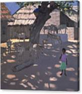 Donkeys Lamu Kenya Canvas Print