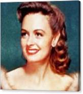 Donna Reed By John Springfield Canvas Print