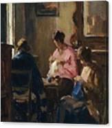Donne Che Cuciono Canvas Print