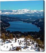 Donner Lake Sierra Nevadas Canvas Print