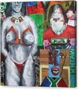 Don't Strike A Woman Canvas Print