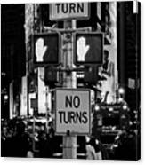 Don't Walk At Times Square Canvas Print
