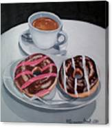 Donuts And Coffee- Donas Y Cafe Canvas Print
