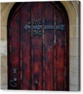 Door At Bath Abbey Canvas Print
