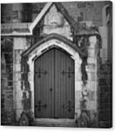 Door At St. Johns In Tralee Ireland Canvas Print