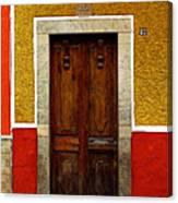 Door In Abstract Canvas Print