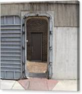 Door In The Richmond Floodwall Canvas Print