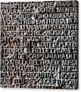 Door Of La Sagrada Familia Canvas Print