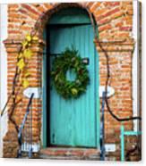 Door With Holiday Reef Canvas Print