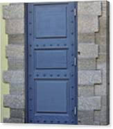 Door With No Handle Canvas Print
