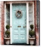 Doors Of Boston Blue Canvas Print
