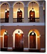 Doors Of San Juan Square Canvas Print