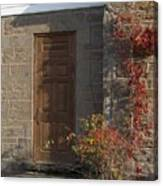 Doorway At The Stone House - Photograph Canvas Print