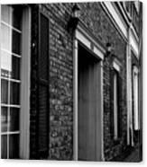 Doorway Black And White Canvas Print