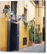 Doorway In Rome Canvas Print