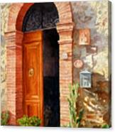 Doorway In Tuscany Number 2 Canvas Print