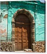 Doorway Quezaltenango Guatemala 1 Canvas Print