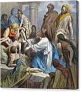 Dor�: Jesus Healing Sick Canvas Print