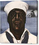 Dorie Miller - Above And Beyond - Ww2 Canvas Print