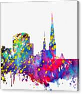 Dortmund Skyline-colorful Canvas Print