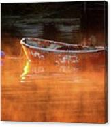 Dory In Orange Mist Canvas Print