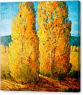 Dos Arboles De Taos Canvas Print