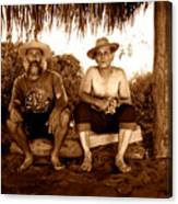Dos Hombres Canvas Print